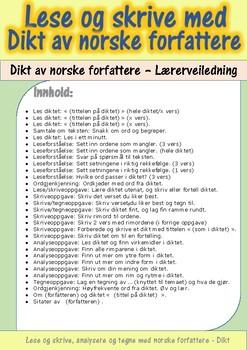 Lese og skrive med dikt av norske forfattere: Lærerveiledning