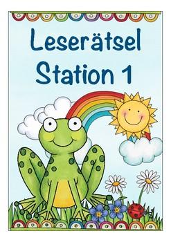 Leserätsel Deutsch, Frühling, German spring quiz, reading simple words