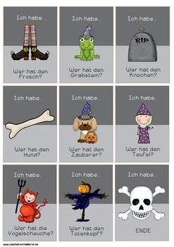 Lesespiel Halloween
