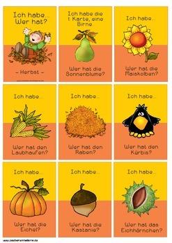 Lesespiel Herbst