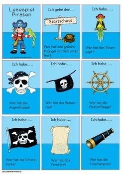 Lesespiel Piraten