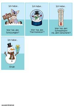 Lesespiel Winter