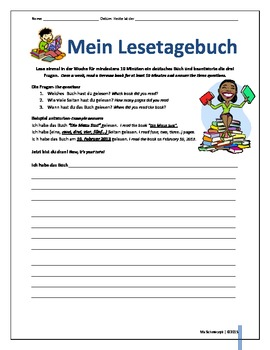 Lesetagebuch-German Reading Journal