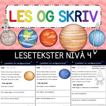 Lesetekst Nivå 4 - Verdensrommet