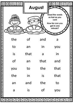 Lesing av høyfrekvente ord (engelsk) på tid