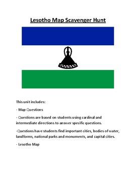 Lesotho Map Scavenger Hunt