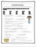 Less Common Homophones Worksheet