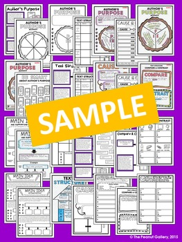 """Less Mess"" Fiction and Nonfiction Interactive Notebook Actvities Bundle"