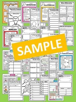 """Less Mess"" Figurative Language Interactive Notebook Activities"