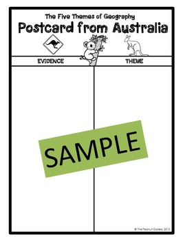 """""""Less Mess"""" Interactive Notebook Activity: The Five Themes of Geography"""
