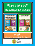 """Less Mess"" Interactive Notebook Reading/ELA Bundle"