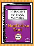 """Less Mess"" Nonfiction/Informational Text Interactive Notebook Activities"