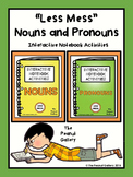 """Less Mess"" Nouns & Pronouns Interactive Notebook Bundle"