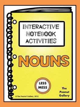 """Less Mess"" Nouns Interactive Notebook Activities"