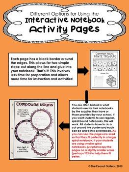 """Less Mess"" Nouns Interactive Notebook Activities"