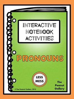 """Less Mess"" Pronouns Interactive Notebook"