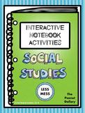 """Less Mess"" Social Studies Interactive Notebook Activities"