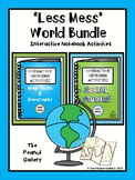 """Less Mess"" Social Studies, Map Skills & Geography Interactive Notebook Bundle"