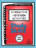 """Less Mess"" Study Skills Interactive Notebook Activities"