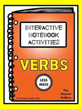"""Less Mess"" Verbs Interactive Notebook Activities"