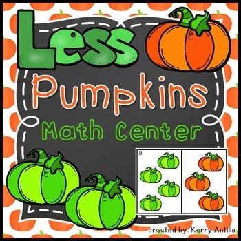 Less Pumpkins Math Center
