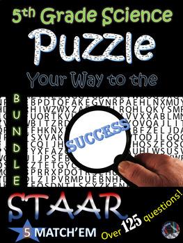 5th Grade Science STAAR Review~Match'em BUNDLE~Over 125 Terms~NO PREP
