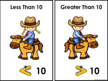 Less Than 10, Greater Than 10 (Western Theme)