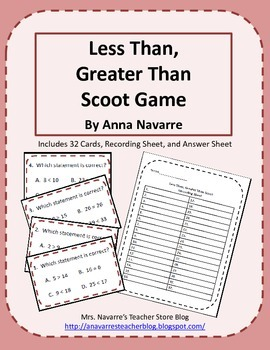 Less Than, Greater Than Scoot Game