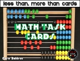 Less Than, More Than Math Intervention Cards