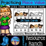 Less Than Greater Than Place Value Task Cards