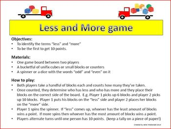 Less and More Game