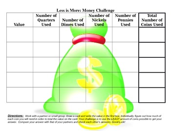 Less is More: Money Challenge