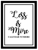 Less is More - Numbers