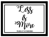 Less is More - Table Numbers
