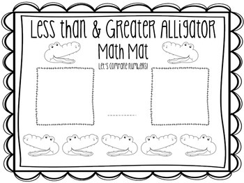 Less than + Greater Alligator {{freebie}}