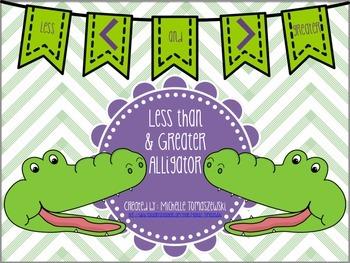 Less than + Greater Alligator {{freebie}}