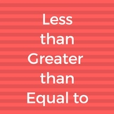 Less than Greater than and Equal to