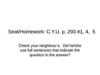 Lesson 01 Homework Answers p. 293