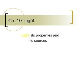 Lesson 01 Properties of Light