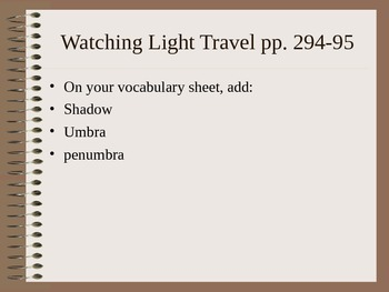 Lesson 02 Watching Light Travel Answers