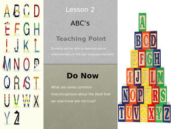 Lesson 1 ABC's of American Sign Language