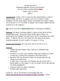 Lesson 1/ Changing the World Gr3 Unit of Study