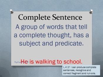 Lesson 1 ELA/Grammar Visuals/Posters