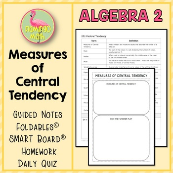 Algebra 2 Measures of Central Tendency