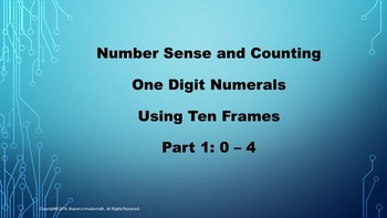 Lesson 1 Part  1: Number Sense and Counting One Digit Nume