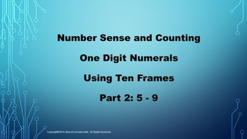 Lesson 1 Part  2: Number Sense and Counting One Digit Nume