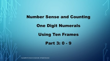 Lesson 1 Part  3: Number Sense and Counting One Digit Nume