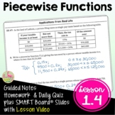 Piecewise Functions with Lesson Video (Unit 1)
