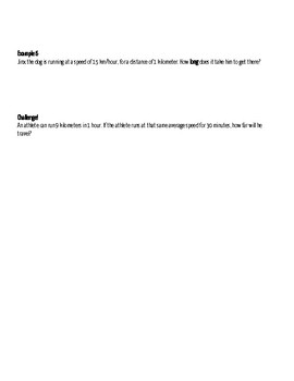 Lesson 1 Position and Speed Note-taking Guide