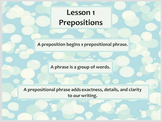 Lesson 1 Prepositions/Lesson 2 Object of Preposition